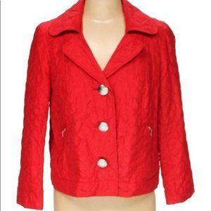 R.Q.T. Lightweight Quilted Red Jacket Size 2X